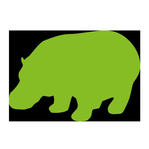 funny green hippo